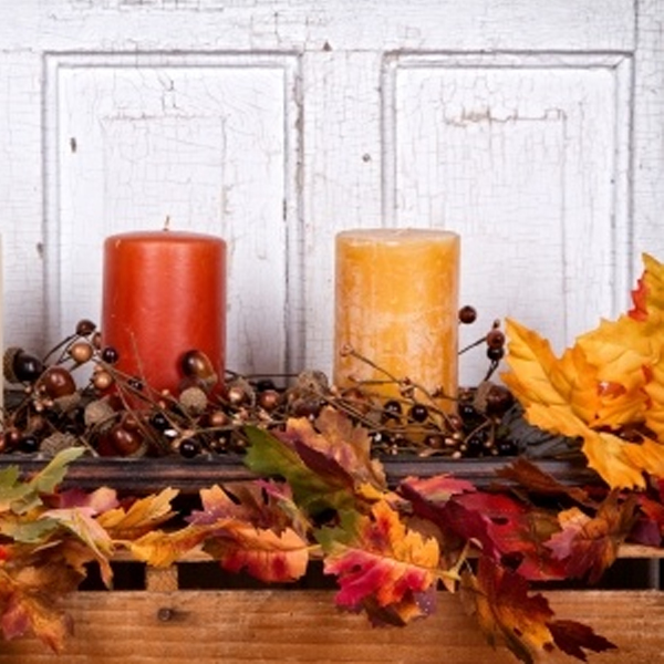 fall mantel decorating