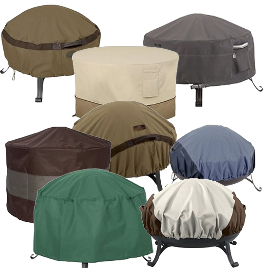 Fabric Covers for Round Fire Pits