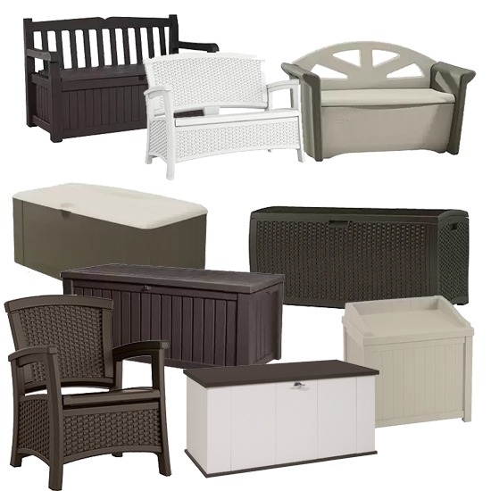 When not in use, store your fabric fire pit cover in outdoor seating/storage furniture.