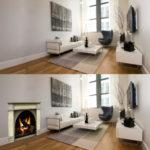 Christmas cardboard fireplace or decal fireplace