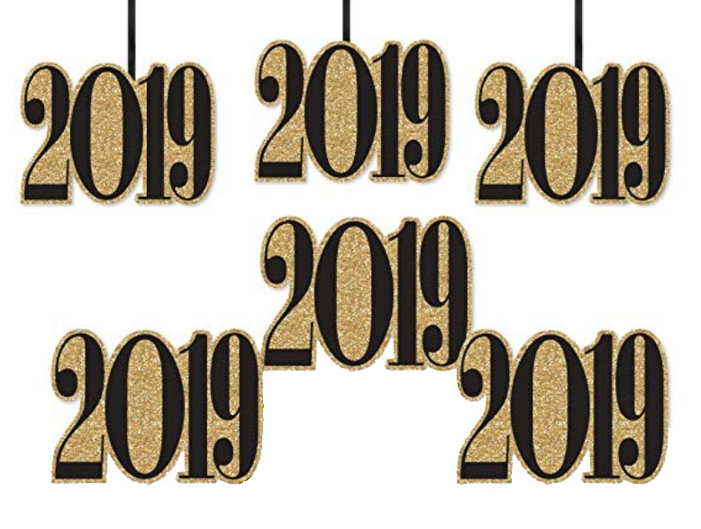 2019 New Year Fireplace Banner