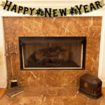 New Year Fireplace Banners