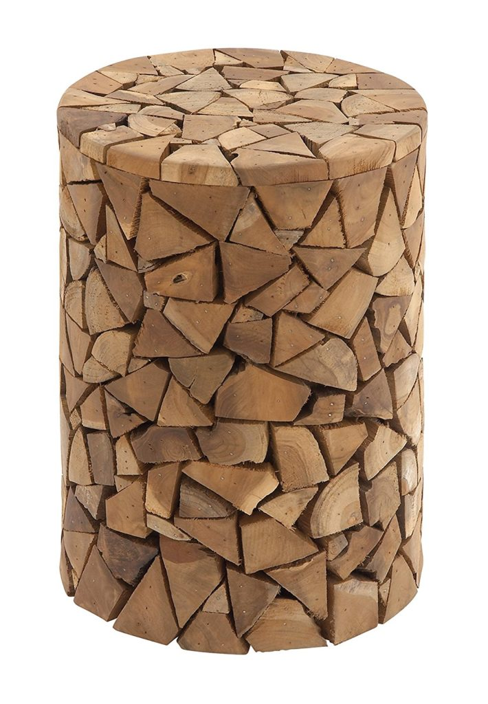 Log Chunks Stool, 12 by 18 inches