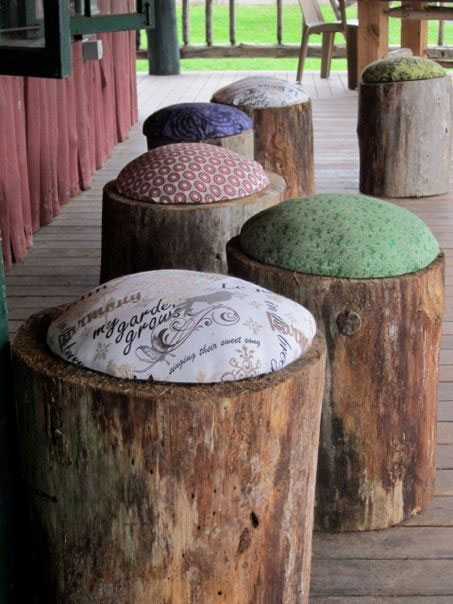 cushioned log stool