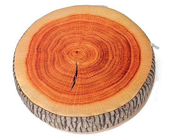 tree ring plush cushion