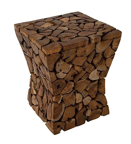 Resin Logs Stool for Indoor or Outdoor Use