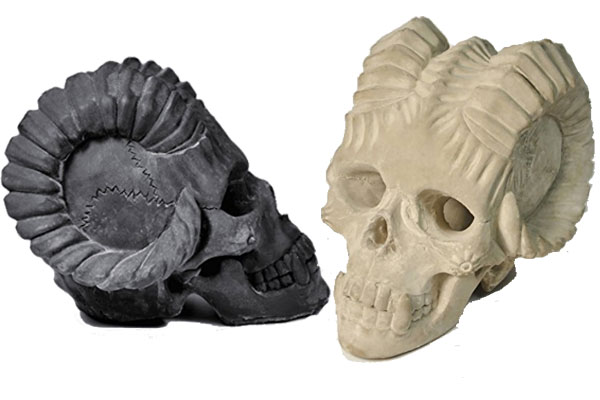 Fireproof Demon Skulls for Fire Pit or Fireplace