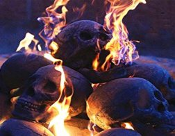 fireproof imitation human skull fire logs