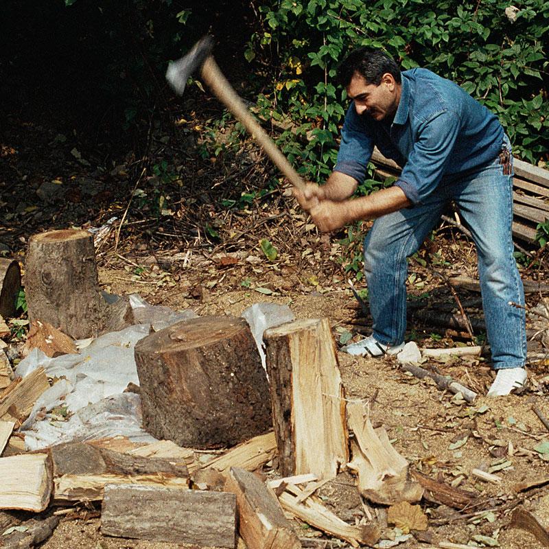 Firewood warms you twice.