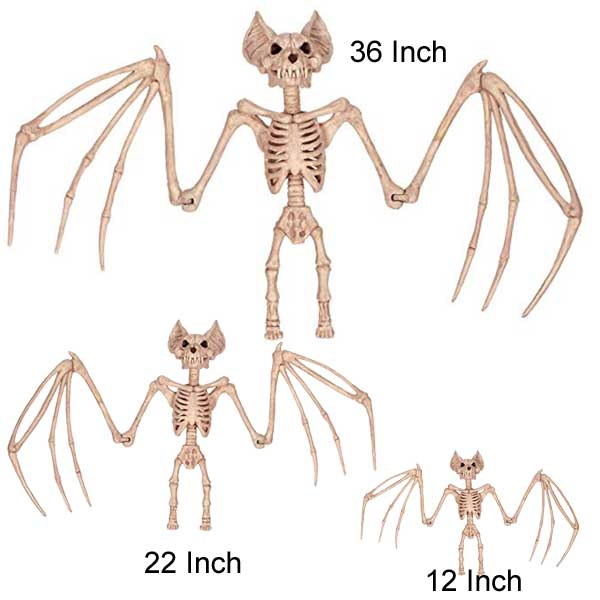 bat skeletons for the fireplace or other Halloween decorating