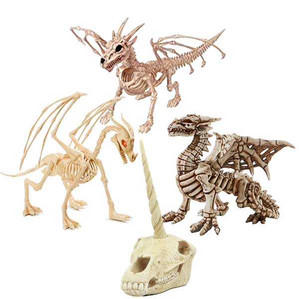 Dragon Skeletons and Unicorn Skull