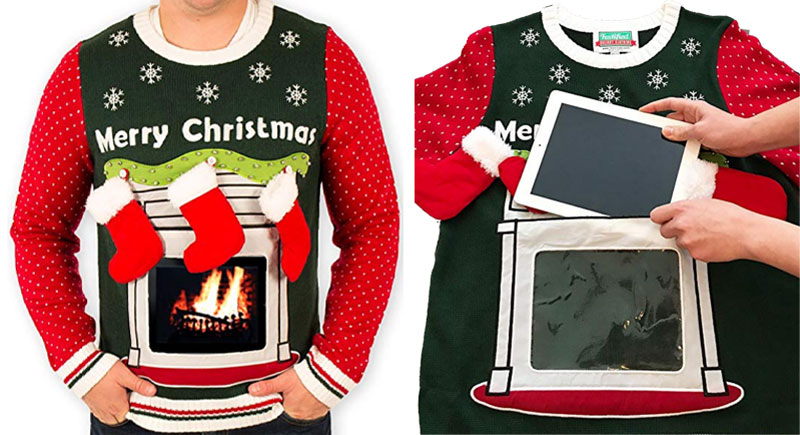 iPad Pocket Fireplace Sweaters